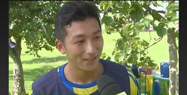 ブラジルサッカー留学中の石塚君