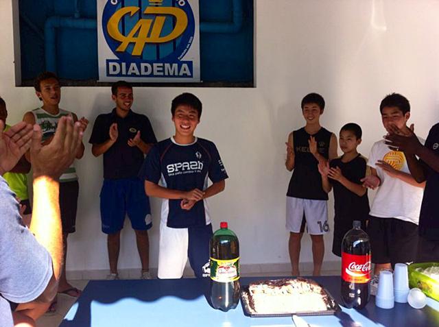 ブラジルサッカー留学中の誕生日会